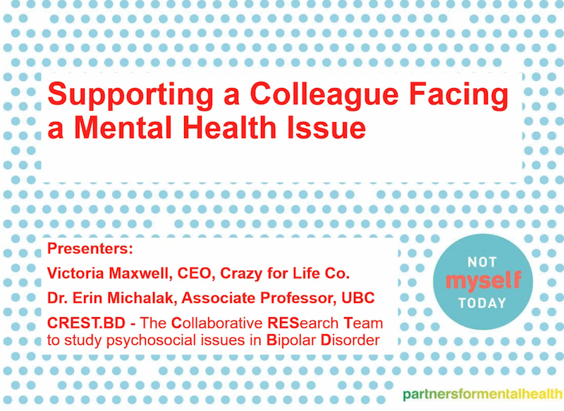Supporting a Colleague Facing a Mental Health Issue