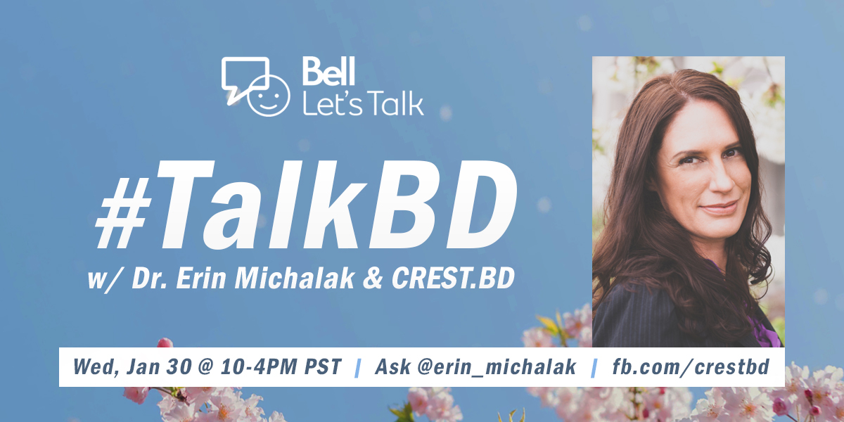 #TalkBD with us on Bell Let's Talk Day!
