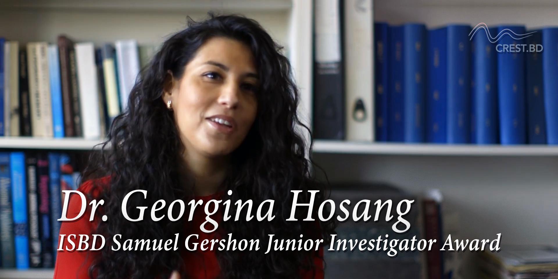 Dr. Georgina Hosang receives Samuel Gershon Junior Investigator Award