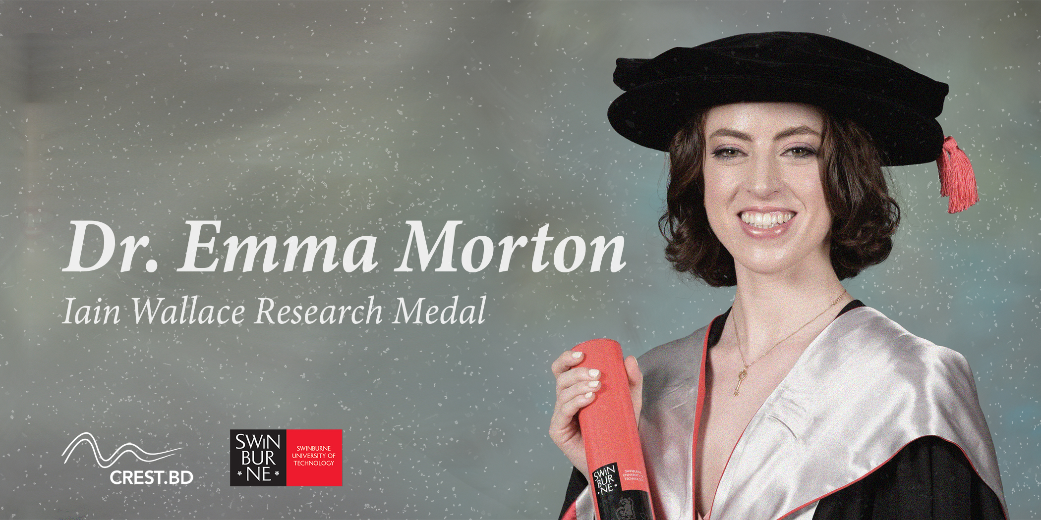 Dr. Emma Morton awarded Iain Wallace Research Medal
