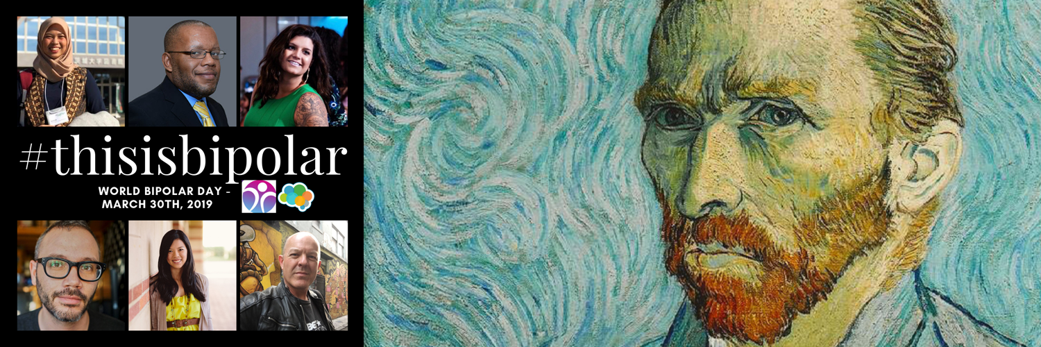 World Bipolar Day - a picture of Vincent Van Gough and others around the world.