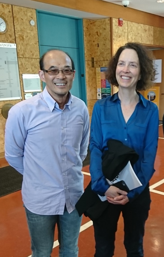 Dr. Samson Tse and Dr. Sheri Johnson in Hong Kong.