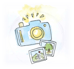 Image of camera and photos.