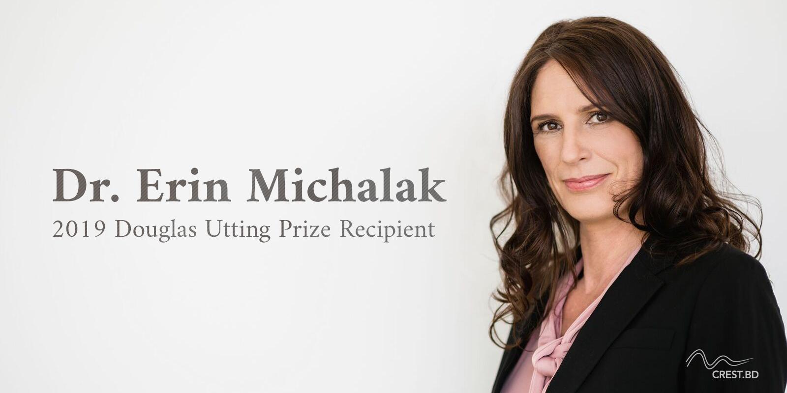 Erin Michalak awarded the Douglas Utting Prize