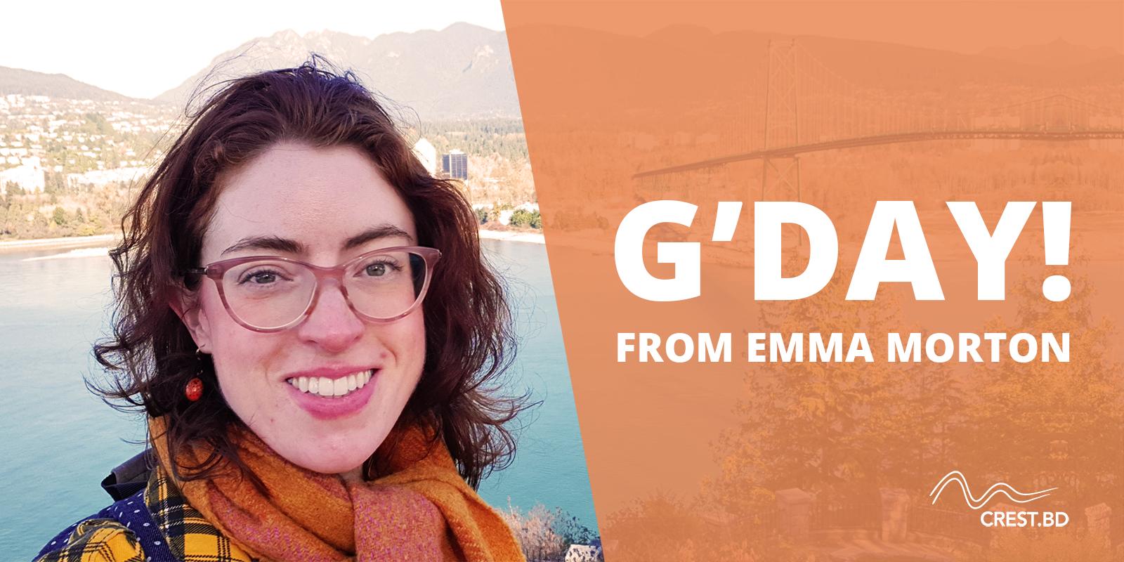 G'day! (An Australian hello from Emma)