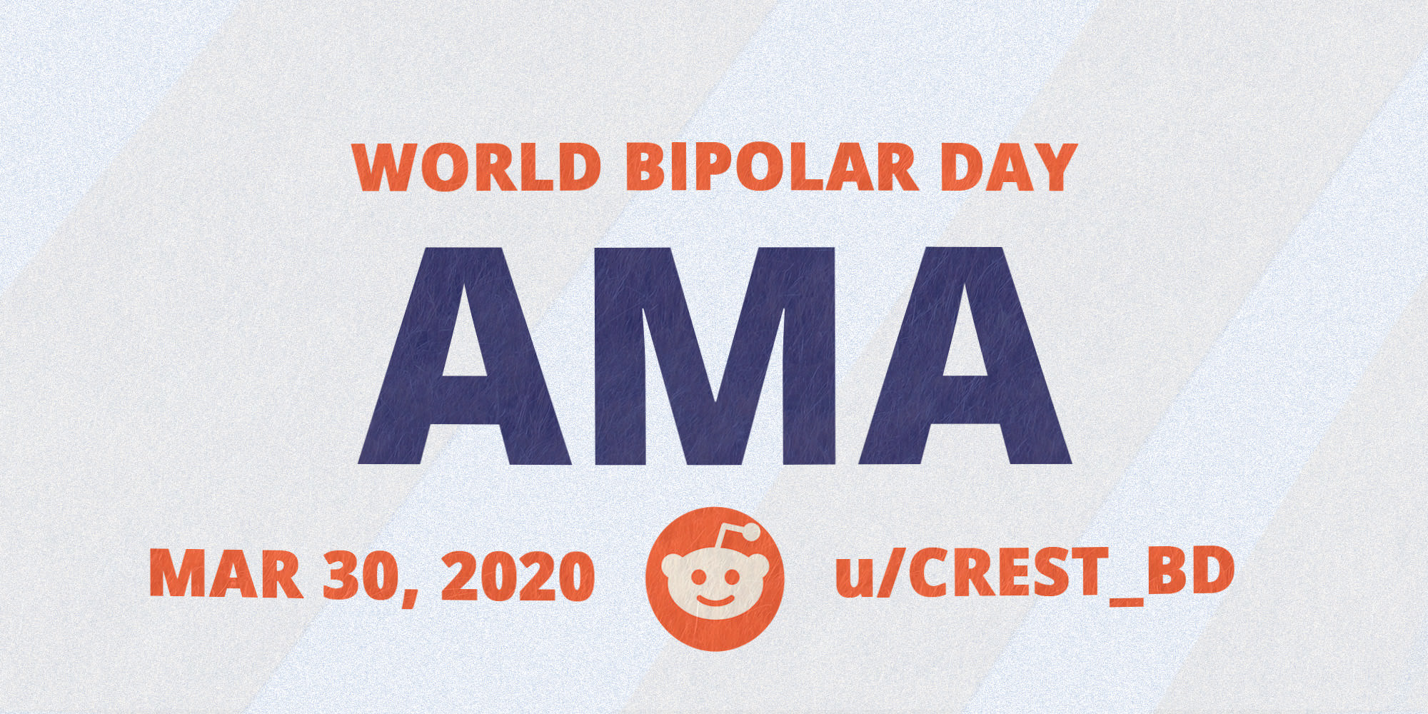 Reddit AMA: Ask us anything on World Bipolar Day!