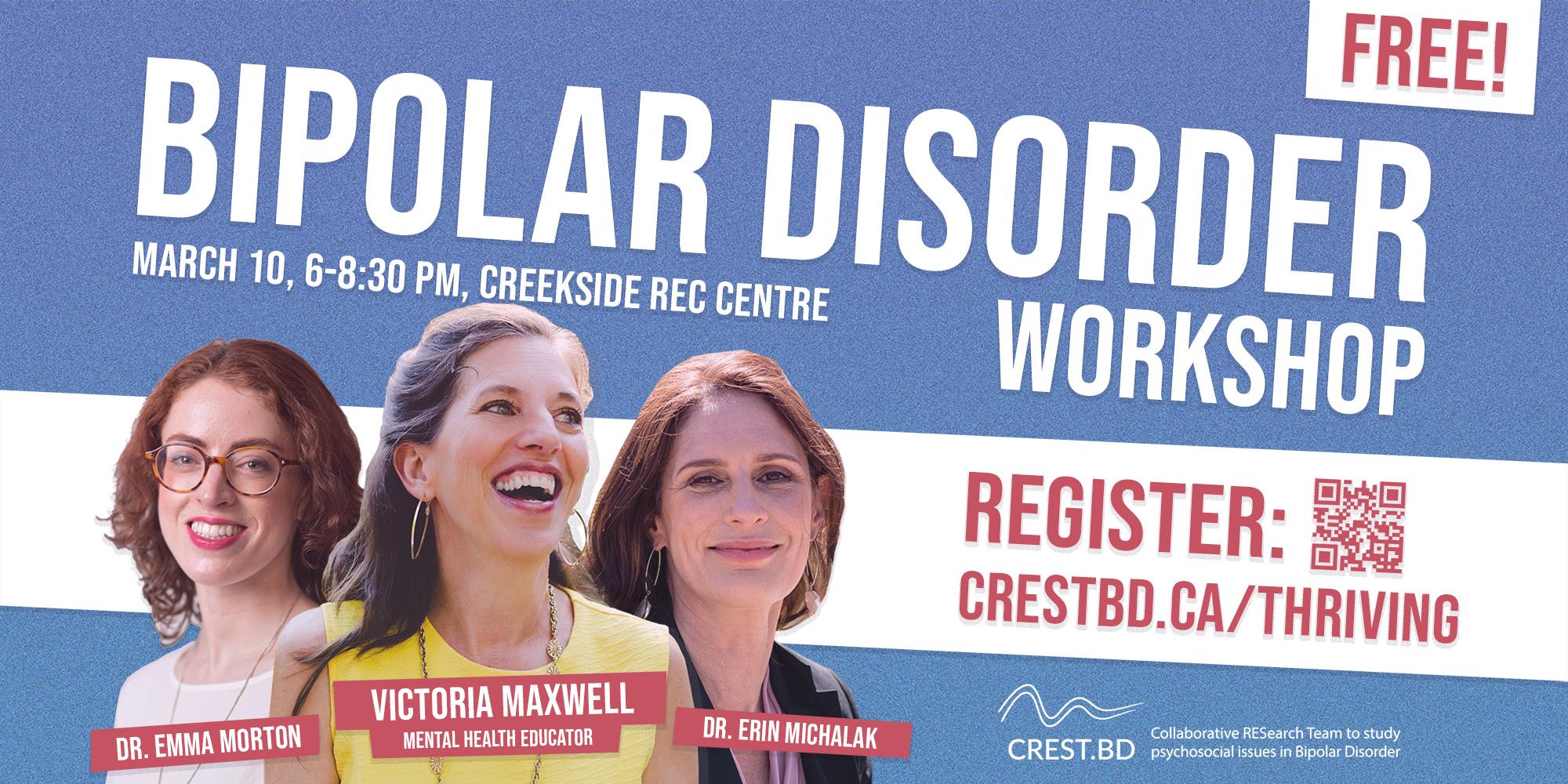 CREST.BD Workshop: Thriving with Bipolar Disorder