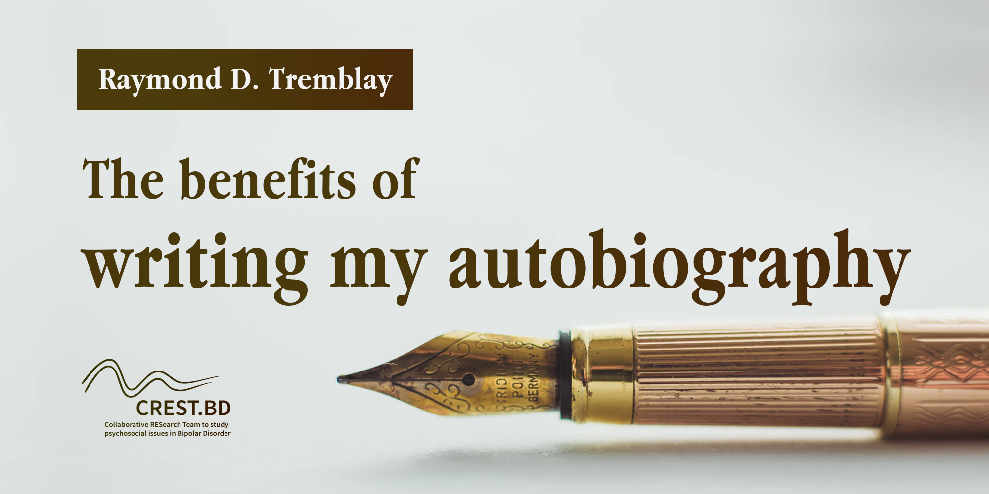The Benefits of Writing my Autobiography