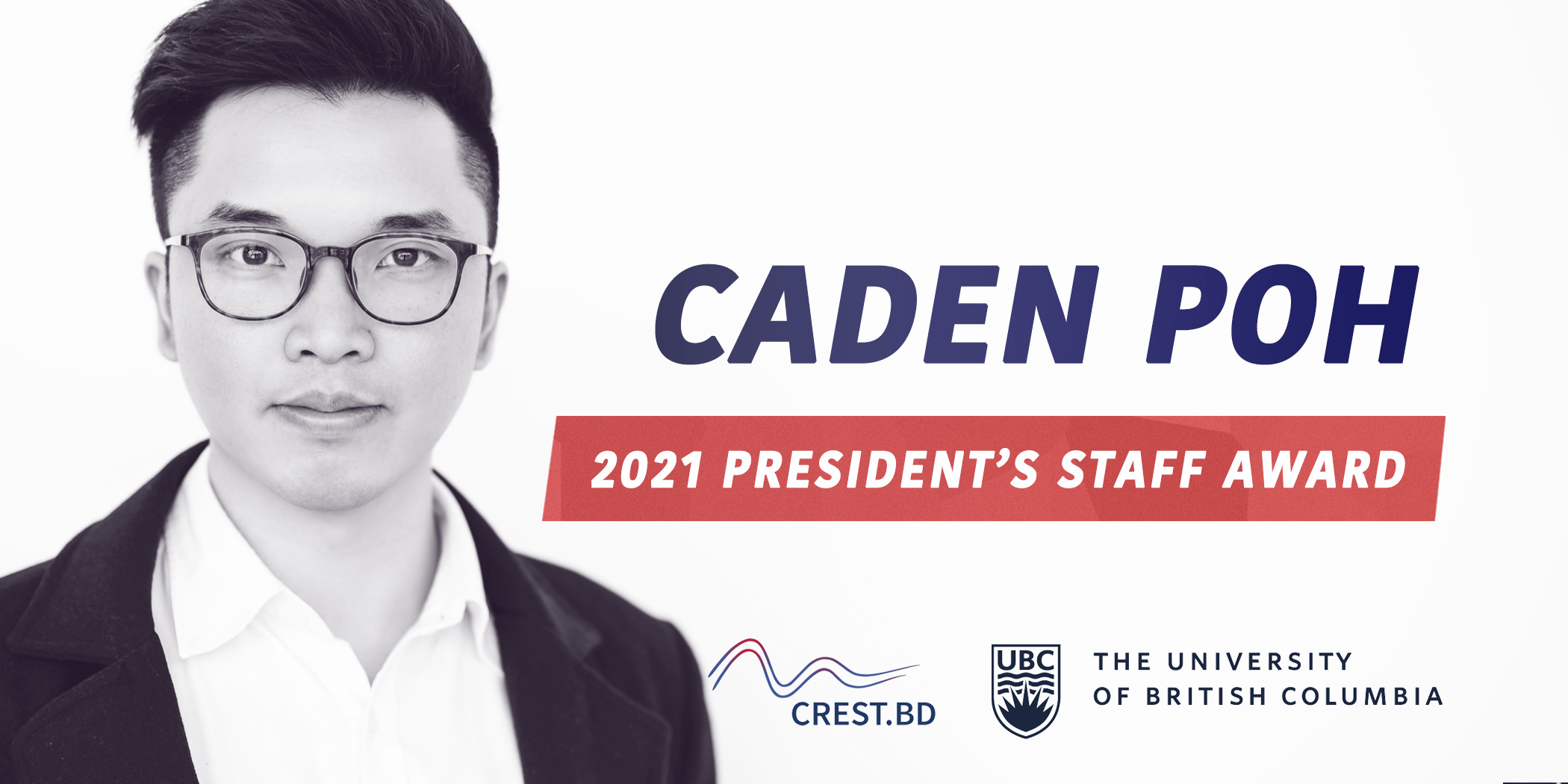 Congratulations to Caden Poh for receiving the UBC President's Staff Award!